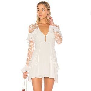 For Love and Lemons Rosebud Embroidery Mini Dress